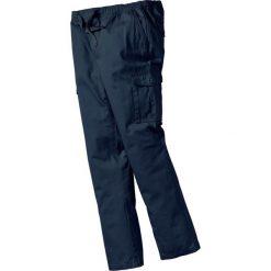 Bojówki męskie: Spodnie bojówki z gumką w talii Regular Fit bonprix ciemnoniebieski
