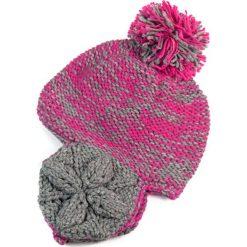 Czapka damska  z uszami Melanż kolorów różowa. Czerwone czapki zimowe damskie marki Art of Polo, melanż. Za 27,05 zł.