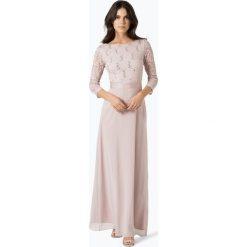 Sukienki: Swing – Damska sukienka wieczorowa, beżowy