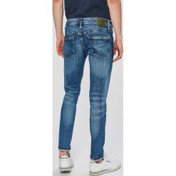 Pepe Jeans - Jeansy Hatch x Wiser Wash. Niebieskie jeansy męskie slim Pepe Jeans, z bawełny. W wyprzedaży za 239,90 zł.