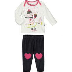 Spodnie niemowlęce: 2-częściowy zestaw w kolorze czarno-białym