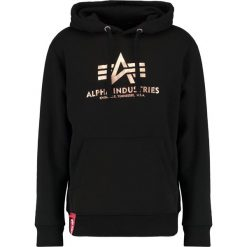 Bejsbolówki męskie: Alpha Industries BASIC HOODY Bluza z kapturem black copper