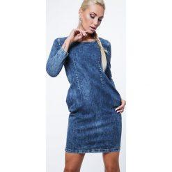 Sukienki: Sukienka jeansowa 1643