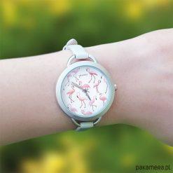 Zegarek, bransoletka - Flamingi. Zielone bransoletki damskie Pakamera. Za 120,00 zł.