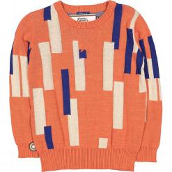"""Sweter """"Piano Man"""" w kolorze pomarańczowo-niebiesko-kremowym. Brązowe swetry chłopięce marki 4FunkyFlavours Kids, z bawełny, z okrągłym kołnierzem. W wyprzedaży za 122,95 zł."""
