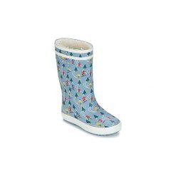 Śniegowce Dziecko Aigle  LOLLY POP PRINT FUR. Żółte buty zimowe chłopięce marki Aigle. Za 143,10 zł.