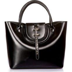 """Torebki klasyczne damskie: Skórzana torebka """"Diane"""" w kolorze czarnym – 40 x 26 x 14 cm"""