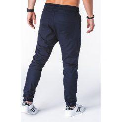 SPODNIE MĘSKIE JOGGERY P707 - GRANATOWE. Niebieskie joggery męskie Ombre Clothing. Za 79,00 zł.
