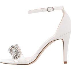 Sandały damskie: New Look TABLOID Sandały na obcasie offwhite