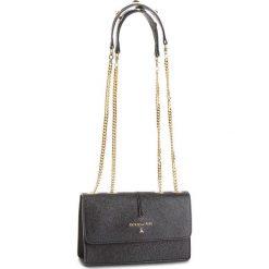 Torebka PATRIZIA PEPE - 2V5920/AA94-K348 Black Metallic. Czarne torebki klasyczne damskie marki Patrizia Pepe, ze skóry. W wyprzedaży za 799,00 zł.