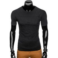 T-SHIRT MĘSKI BEZ NADRUKU S962 - CZARNY. Czarne t-shirty męskie z nadrukiem marki Ombre Clothing, m. Za 29,00 zł.