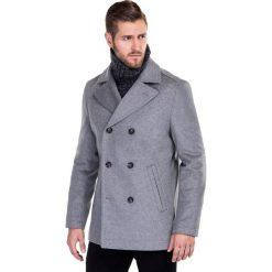 Płaszcz CRISTOFORO PSPE000013. Szare płaszcze na zamek męskie marki Giacomo Conti, na jesień, m, z wełny, klasyczne. Za 799,00 zł.