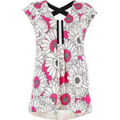 Bluzki asymetryczne: Bluzka w kolorze biało-różowym