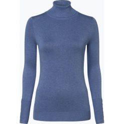 Marie Lund - Sweter damski, niebieski. Niebieskie swetry klasyczne damskie Marie Lund, s, prążkowane, z golfem. Za 149,95 zł.