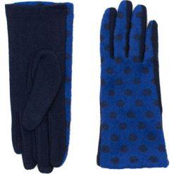 Rękawiczki damskie: Art of Polo Rękawiczki  damskie Niezwykłe grochy niebieskie (rk16510)