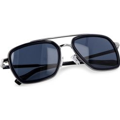 Okulary przeciwsłoneczne BOSS - 0306/S Blue PJP. Niebieskie okulary przeciwsłoneczne damskie lenonki marki Boss, z tworzywa sztucznego. W wyprzedaży za 459,00 zł.
