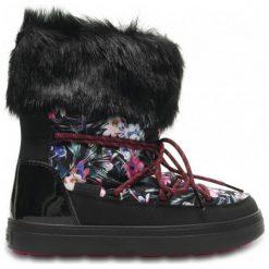 Crocs Śniegowce Lodge Point Graphic Lace Boot W Tropical/Black 41,5. Czarne śniegowce damskie marki Crocs, z gumy. W wyprzedaży za 299,00 zł.