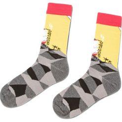 Skarpety Wysokie Unisex CUP OF SOX - Science Fishion Socks A Kolorowy Żółty. Żółte skarpetki damskie Cup of sox, w kolorowe wzory, z bawełny. Za 24,00 zł.