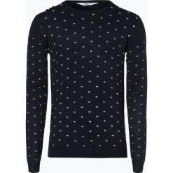 Swetry klasyczne męskie: Solid - Sweter męski – Matias, niebieski