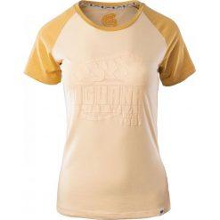 IGUANA Koszulka damska Baako W Navy Melange/ Colorful Print r. S. Brązowe topy sportowe damskie marki IGUANA, s. Za 31,24 zł.