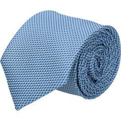 Krawat platinum niebieski classic 217. Niebieskie krawaty męskie Recman, z materiału, eleganckie. Za 49,00 zł.
