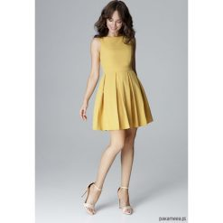 Sukienki: Sukienka L006 Żółty