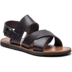Sandały WOJAS - 5302-51 Czarny. Czarne sandały męskie skórzane Wojas. W wyprzedaży za 189,00 zł.