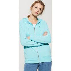 Bluzy damskie: Bluza z kapturem – Turkusowy