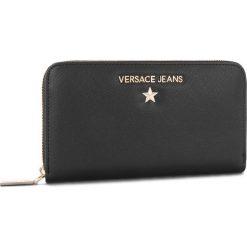 Duży Portfel Damski VERSACE JEANS - E3VSBPN3  70787 899. Czarne portfele damskie Versace Jeans, z jeansu. Za 369,00 zł.