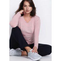 Bluzki damskie: Różowa Bluzka Passionate Matter