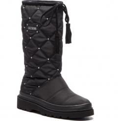 Kozaki GUESS - FLVEE4 FAB10 BLACK. Czarne buty zimowe damskie Guess, z materiału. Za 769,00 zł.