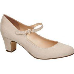 Buty ślubne damskie: czółenka damskie Graceland beżowe