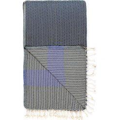 Chusta hammam w kolorze granatowo-niebieskim - 180 x 95 cm. Czarne chusty damskie marki Hamamtowels, z bawełny. W wyprzedaży za 43,95 zł.