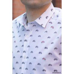 Koszula męska - Bicycles. Białe koszule męskie marki Reserved, l. Za 239,00 zł.