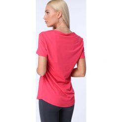 T-shirt luźny fason fuksja MR16618. Czerwone t-shirty damskie Fasardi, l. Za 39,00 zł.