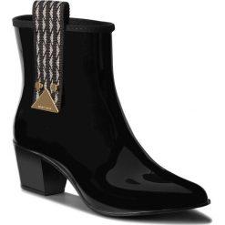 Kalosze EMPORIO ARMANI - X3O170 XD162 00002 Black. Czarne buty zimowe damskie Emporio Armani, z materiału. Za 809,00 zł.