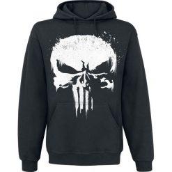 Bluzy męskie: The Punisher Sprayed Skull Logo Bluza z kapturem czarny