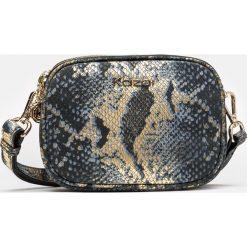 Czarno złota torebka damska. Czarne torebki klasyczne damskie Kazar, w paski, z nubiku, z tłoczeniem. Za 499,00 zł.