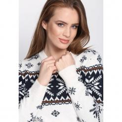 Biały Sweter Intelligible. Białe swetry klasyczne damskie Born2be, l. Za 74,99 zł.