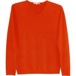 Sweter kaszmirowy w kolorze pomarańczowym. Brązowe swetry klasyczne męskie marki Ateliers de la Maille, m, z kaszmiru, z okrągłym kołnierzem. W wyprzedaży za 500,95 zł.