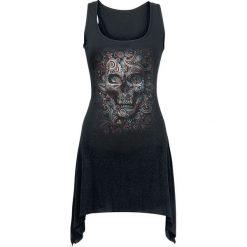 Bluzki, topy, tuniki: Spiral Skull Illusion Top damski czarny