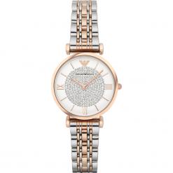 Zegarek EMPORIO ARMANI - Gianni T-Bar AR1926  2T Silver/Rose/Rose Gold. Szare zegarki damskie marki Emporio Armani, l, z nadrukiem, z bawełny, z okrągłym kołnierzem. Za 1609,00 zł.