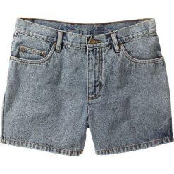 Szorty dżinsowe bonprix niebieski moon washed. Niebieskie spodenki jeansowe męskie bonprix, klasyczne. Za 69,99 zł.