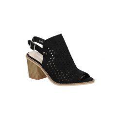 Sandały Sergio Leone  Sandały ażurowe  50891. Czarne sandały damskie marki Sergio Leone, w ażurowe wzory. Za 79,99 zł.