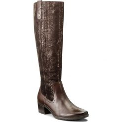Kozaki CAPRICE - 9-25518-29 Dk Brn Met.Com 347. Brązowe buty zimowe damskie marki NEWFEEL, z gumy. W wyprzedaży za 359,00 zł.