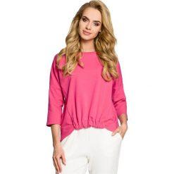 PHOENIX Bluza z gumką z przodu - fuksja. Czerwone bluzy rozpinane damskie marki Moe, s, z dzianiny, z krótkim rękawem, krótkie. Za 109,00 zł.