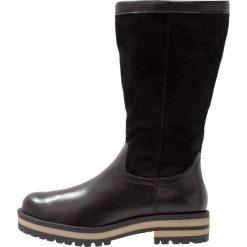 Pier One Śniegowce black. Czarne buty zimowe damskie marki Pier One, z materiału. W wyprzedaży za 227,40 zł.