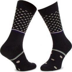 Skarpety Wysokie Męskie DOTS SOCKS - DTS-SX-069-X Czarny. Czarne skarpetki męskie Dots Socks, z bawełny. Za 19,90 zł.
