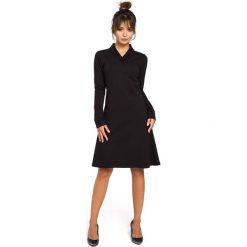 Czarna Sukienka z Długim Rękawem. Czarne sukienki balowe marki Molly.pl, na co dzień, l, z dresówki, z długim rękawem, dopasowane. Za 132,90 zł.