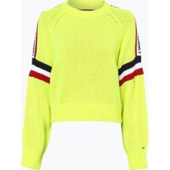 Tommy Jeans - Sweter damski, żółty. Żółte swetry klasyczne damskie Tommy Jeans, m, z jeansu. Za 539,95 zł.